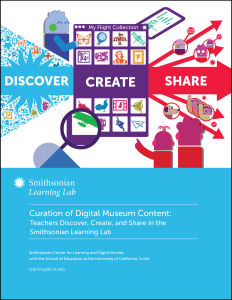 Curation of Digital Museum Content: Teachers Discover, Create, and Share in the Smithsonian Learning Lab report cover.