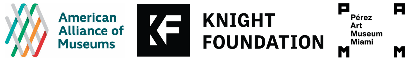 AAM, Knight Foundation, and Perez Art Museum Miami logos.