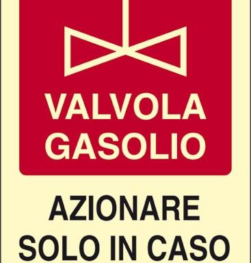 VALVOLA GASOLIO AZIONARE SOLO IN CASO DI INCENDIO luminescente