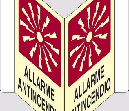 """ALLARME ANTINCENDIO """"V"""" luminescente"""
