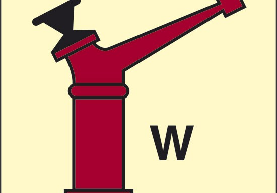 W (lancia a brandeggio erogatore acqua) luminescente
