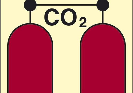 CO2 (stazione rilascio CO2) luminescente
