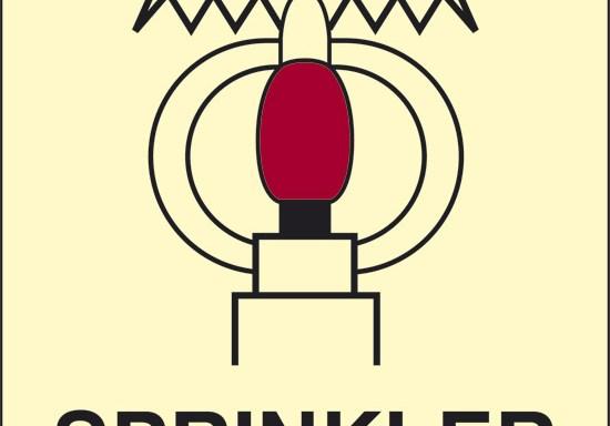 SPRINKLER (spazio protetto da sprinkler) luminescente