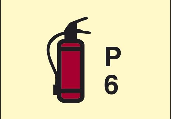 P 6 (estintore a polvere) luminescente