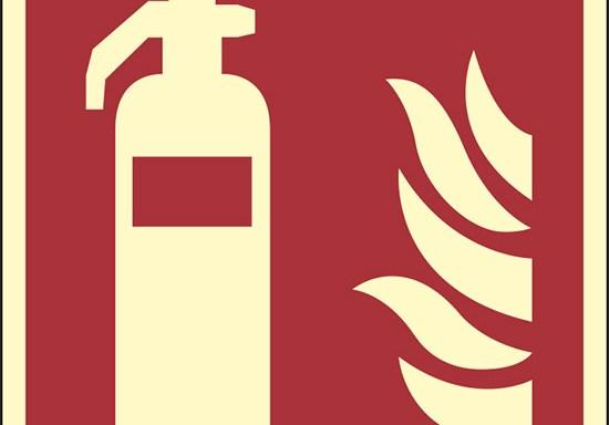 (estintore – fire extinguisher) luminescente