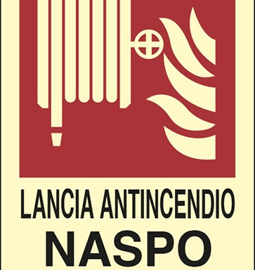 LANCIA ANTINCENDIO NASPO N° luminescente