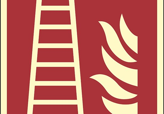 (scala antincendio – fire ladder) luminescente