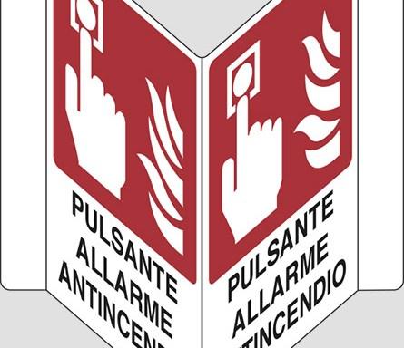 """PULSANTE ALLARME ANTINCENDIO """"V"""""""