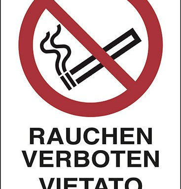 RAUCHEN VERBOTEN VIETATO FUMARE