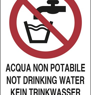 ACQUA NON POTABILE NOT DRINKING WATER KEIN TRINKWASSER EAU NON POTABLE