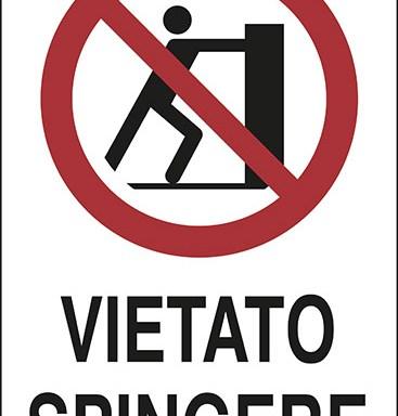 VIETATO SPINGERE