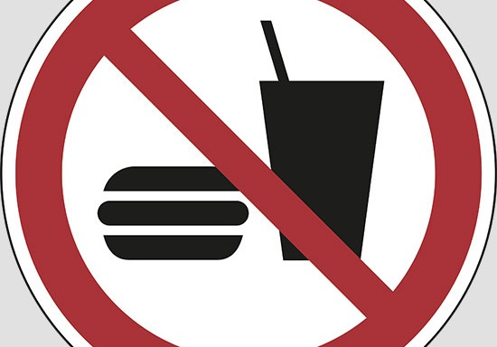 (no eating or drinking)