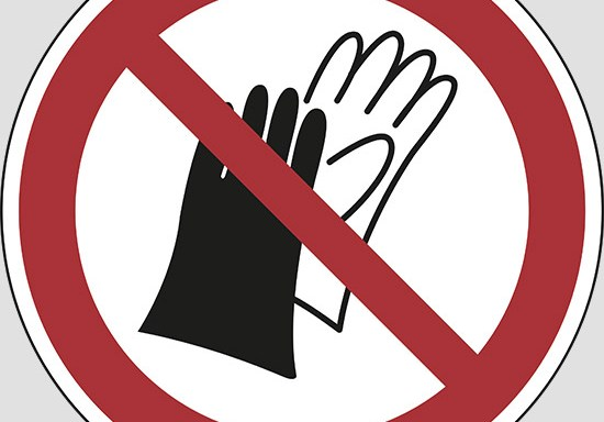 (do not wear gloves)