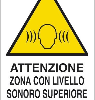 ATTENZIONE ZONA CON LIVELLO SONORO SUPERIORE A 85 dB(A)