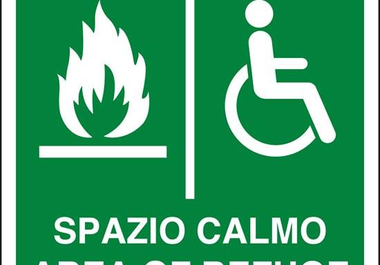 (spazio calmo – area of refuge)