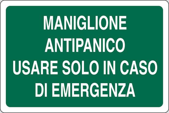 MANIGLIONE ANTIPANICO USARE SOLO IN CASO DI EMERGENZA