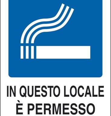 IN QUESTO LOCALE E' PERMESSO FUMARE