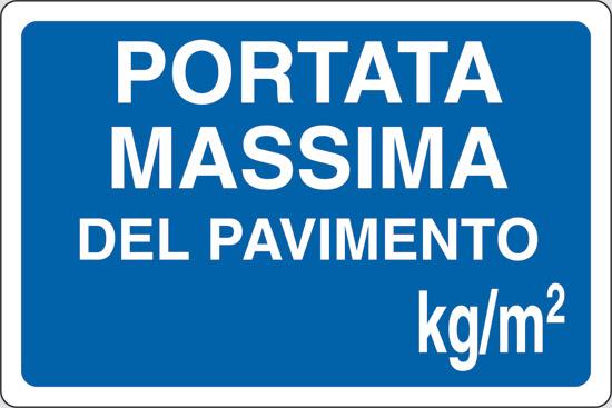 PORTATA MASSIMA DEL PAVIMENTO kg/mq