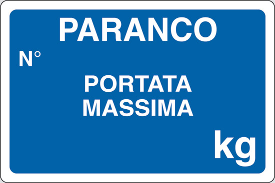 PARANCO N  PORTATA MASSIMA kg
