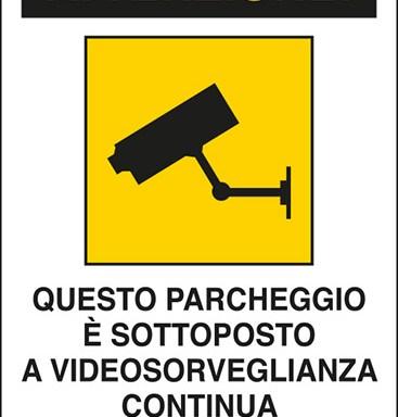 ATTENZIONE! QUESTO PARCHEGGIO E' SOTTOPOSTO A VIDEOSORVEGLIANZA CONTINUA Art. 13 del Codice in materia di protezione dei dati personali D.Lgs. 101/2018 e del Regolamento UE 2016/679 (GDPR)