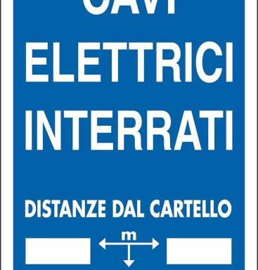 CAVI ELETTRICI INTERRATI DISTANZE DAL CARTELLO M