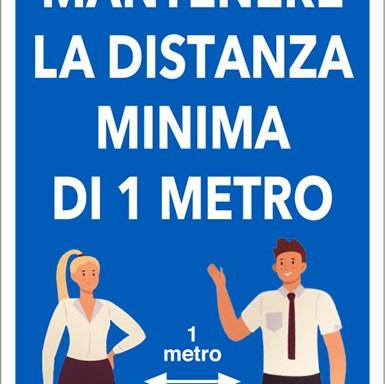 MANTENERE LA DISTANZA MINIMA DI 1 METRO