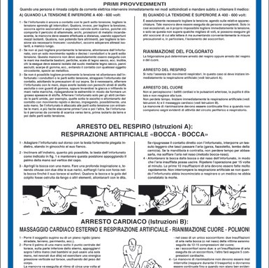 SOCCORSI D'URGENZA da prestarsi ai colpiti da corrente elettrica