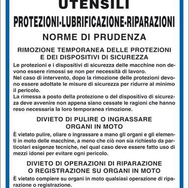 MACCHINE UTENSILI PROTEZIONI-LUBRIFICAZIONE-RIPARAZIONI NORME DI PRUDENZA