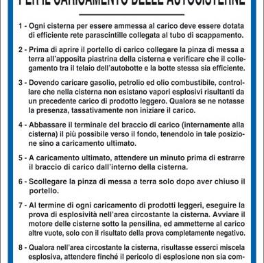 NORME PER IL CARICAMENTO DELLE AUTOCISTERNE