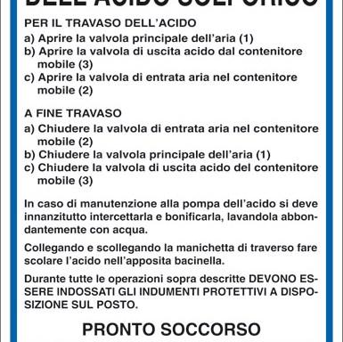 NORME DI SICUREZZA PER L'IMPIEGO DELL'ACIDO SOLFORICO