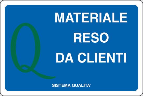 MATERIALE RESO DA CLIENTI