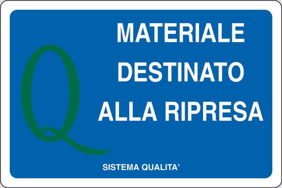 MATERIALE DESTINATO ALLA RIPRESA