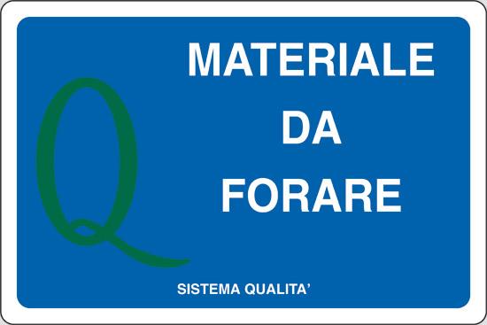 MATERIALE DA FORARE