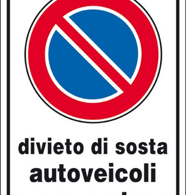 divieto di sosta autoveicoli a gas metano