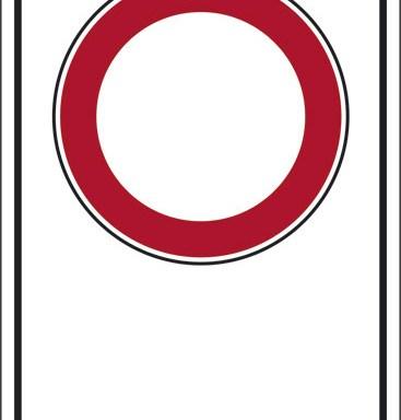 """(simbolo """"divieto di transito"""" con spazio scrivibile)"""