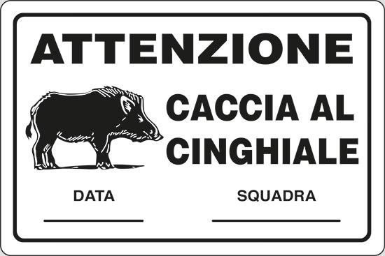 ATTENZIONE CACCIA AL CINGHIALE DATA___ SQUADRA___
