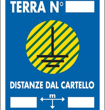 DISPERSORE DI TERRA N DISTANZE DAL CARTELLO M