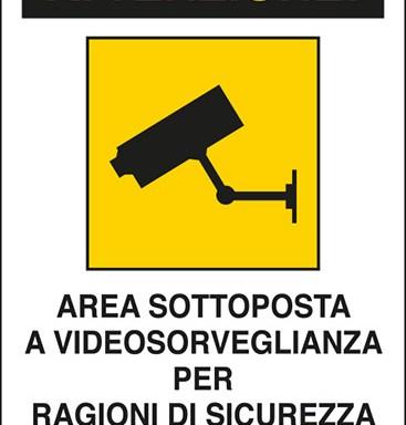 ATTENZIONE! AREA SOTTOPOSTA A VIDEOSORVEGLIANZA PER RAGIONI DI SICUREZZA Art. 13 del Codice in materia di protezione dei dati personali D.Lgs. 101/2018 e del Regolamento UE 2016/679 (GDPR)