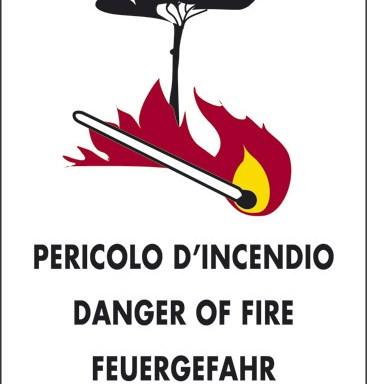 PERICOLO D'INCENDIO DANGER OF FIRE FEUERGEFAHR DANGER D'INCENDIE