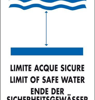 LIMITE ACQUE SICURE LIMIT OF SAFE WATER ENDE DER SICHERHEITSGEWASSER LIMITE EAUX SURES