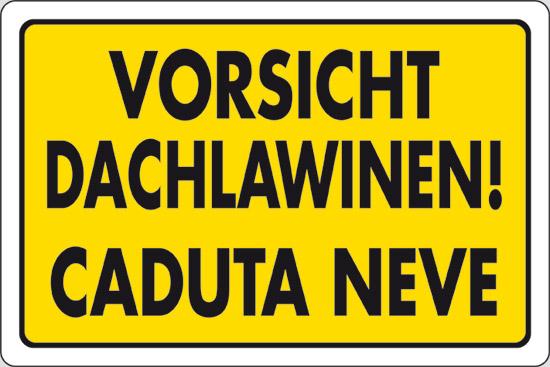 VORSICHT DACHLAWINEN! CADUTA NEVE