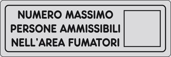 NUMERO MASSIMO PERSONE AMMISSIBILI NELL' AREA FUMATORI