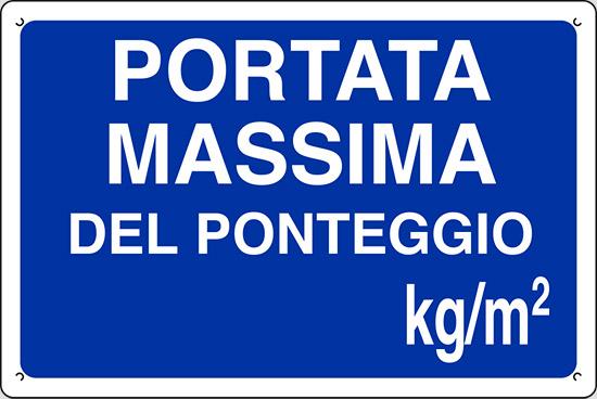 PORTATA MASSIMA DEL PONTEGGIO kg/m2
