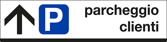 parcheggio clienti (con freccia avanti)