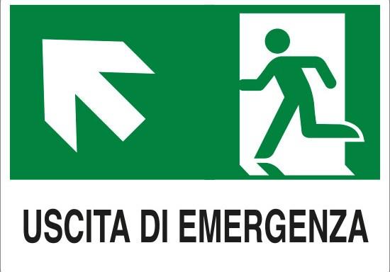 USCITA DI EMERGENZA (scala in alto a sinistra)