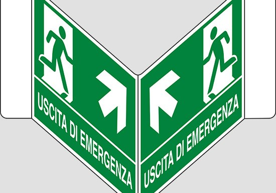"""USCITA DI EMERGENZA (scala) a """"V"""""""