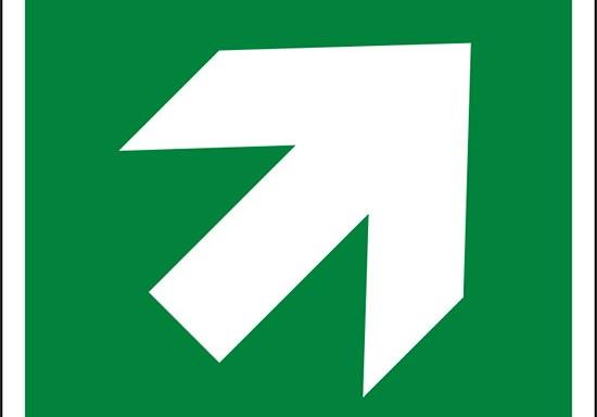 (freccia direzionale di 45°, incremento di 90°, condizioni di sicurezza – direction, 45° arrow 90° increments, safe condition)