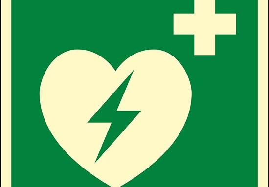 (defibrillatore esterno di emergenza – automated external heart defibrillator) luminescente