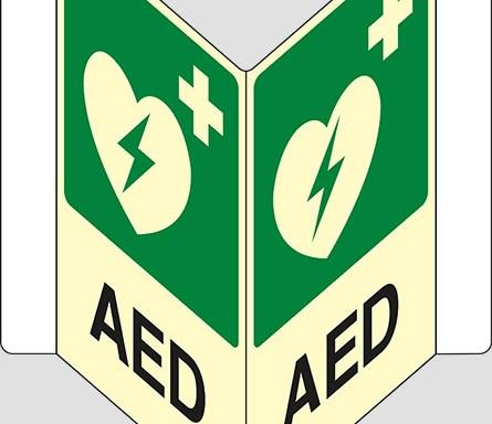 """AED a """"V"""" luminescente"""