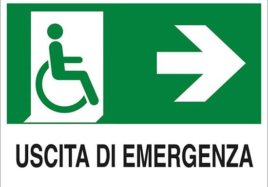 USCITA DI EMERGENZA (disabili a destra)
